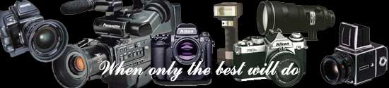 Winpenny Photography use only cameras and lenses made by the worlds best manufacturers